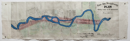 1888 Don River Pre-channelization Map