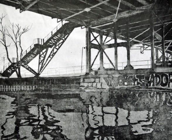 Lower Don River – Footbridge at Queen Street East